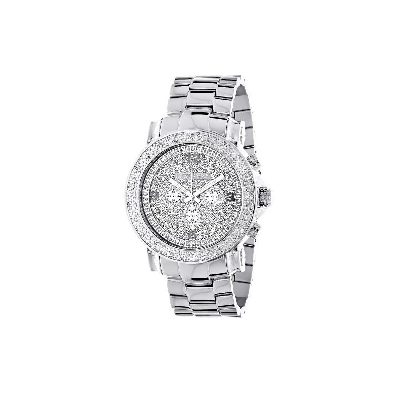 Oversized Mens Diamond Watch 0.25Ct LUXURMAN Escal