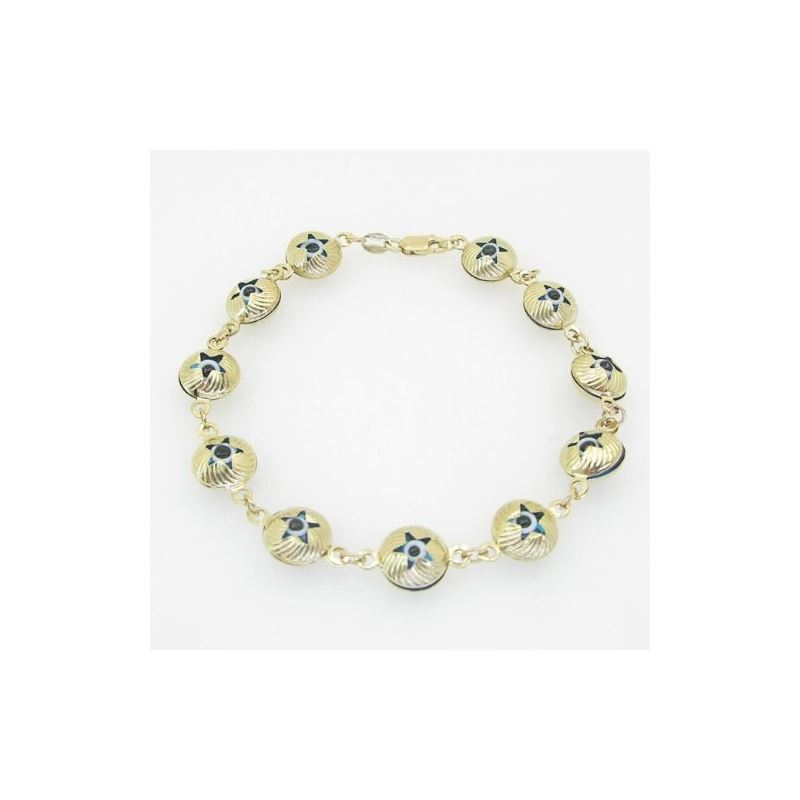 Ladies 10K Solid Yellow Gold evil eye st 74877 1
