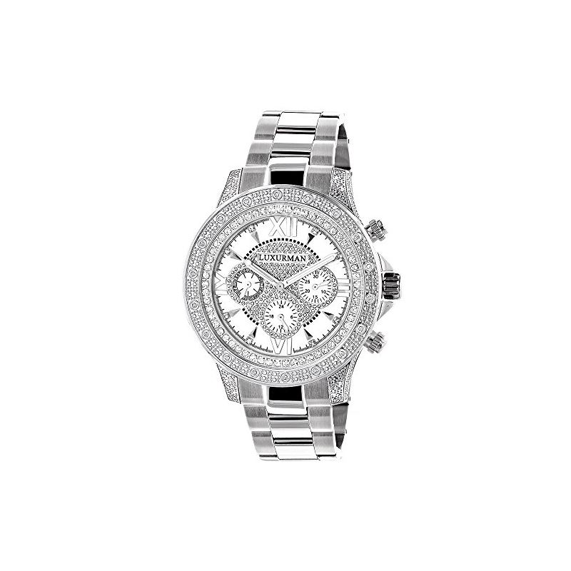 Luxurman Liberty Genuine Diamond Mens Wa 90132 1