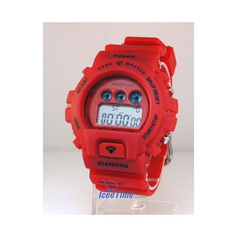 Aqua Master Shock Digital Watch Red 27737 1