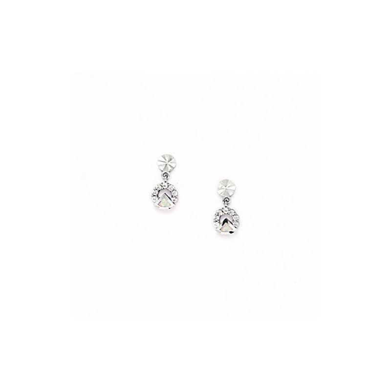 14K White Gold star oval drop shap with  66172 1