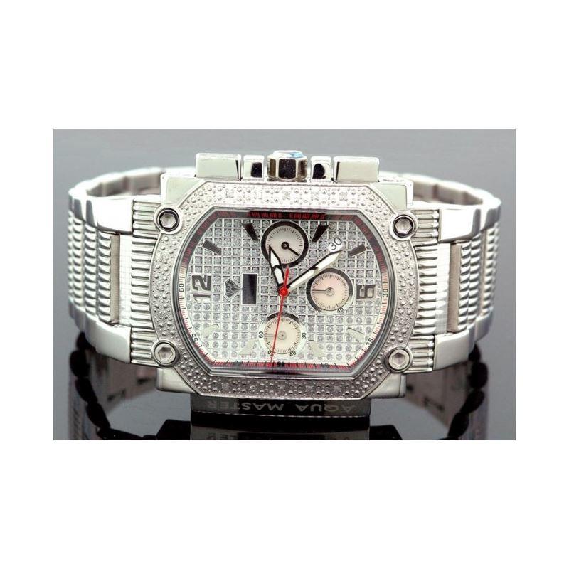 Agua Master 0.16ctw Mens Diamond Watch w 55525 1
