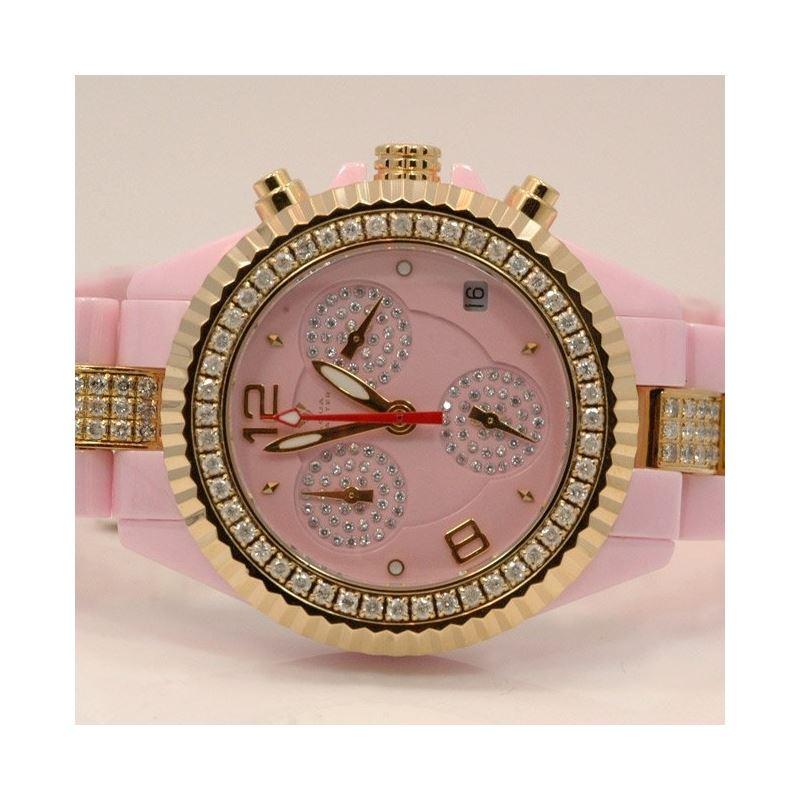 Aqua Master Ladies Ceramic Diamond Watch 53494 1