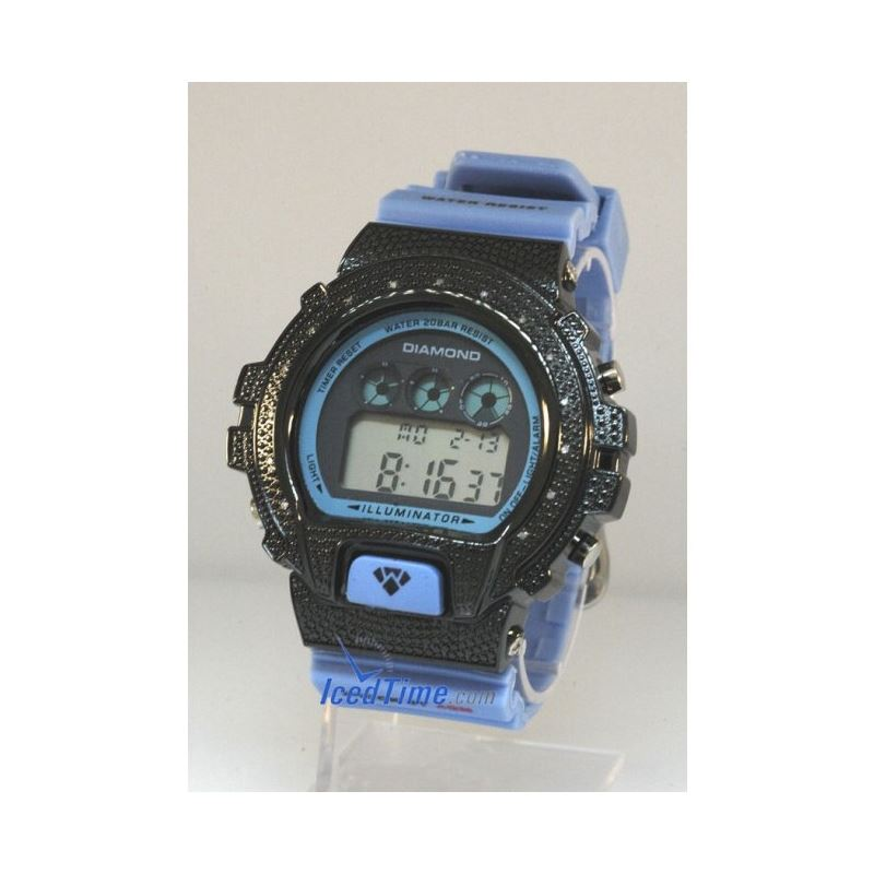 Aqua Master Shock Diamond Mens Black Wat 55510 1