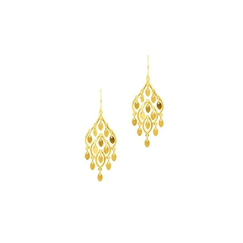 10K Yellow Gold Ladies Drop Earrings ZER 61358 1