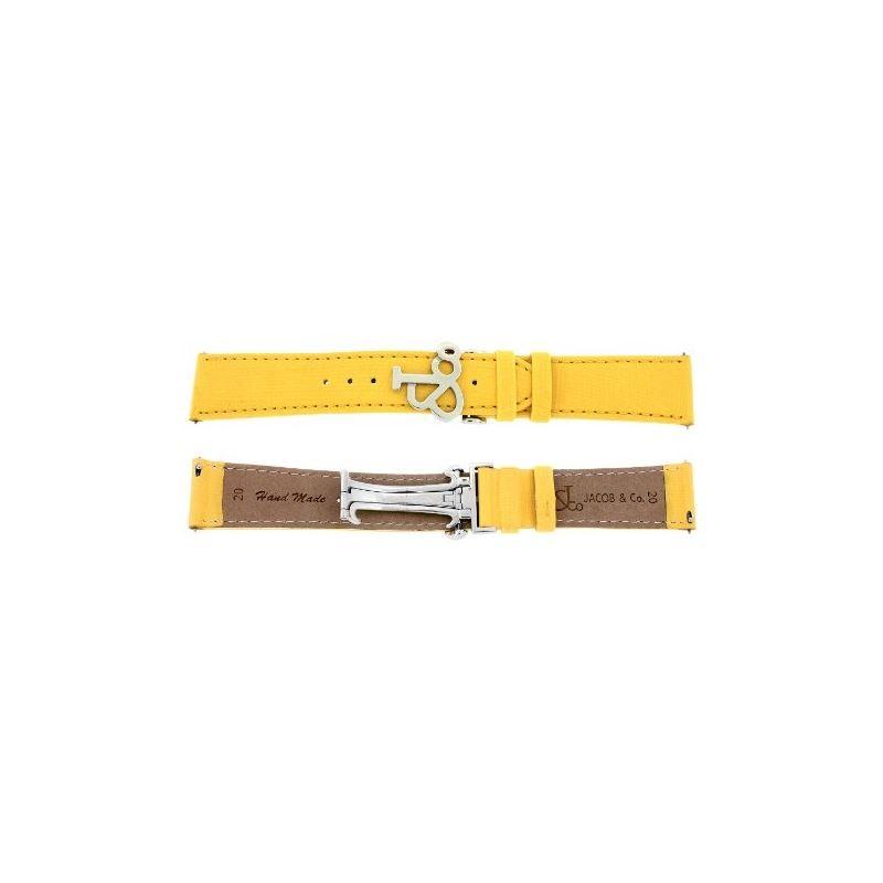 Jacob Co. Genuine Real Satin Yellow Band Strap 20M