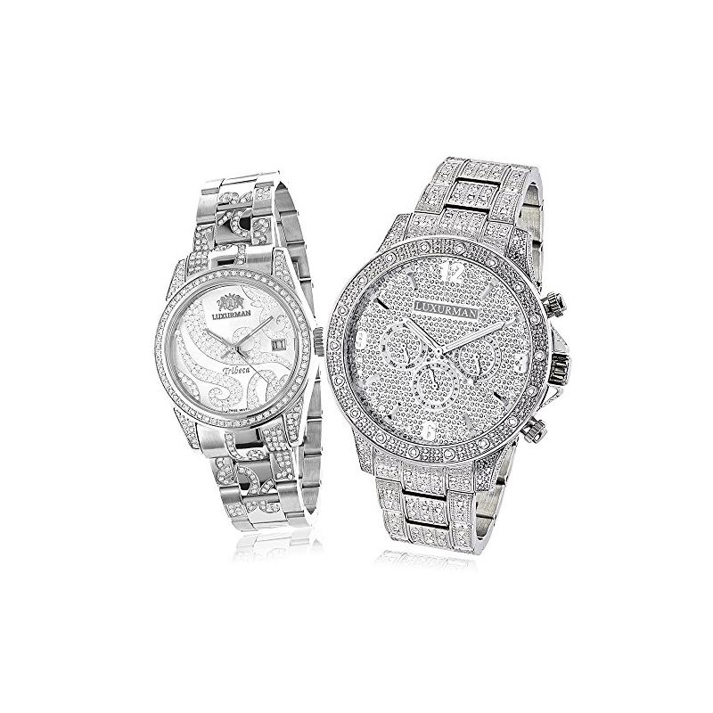 Matching His And Hers Watches: Iced Out Diamond Wa