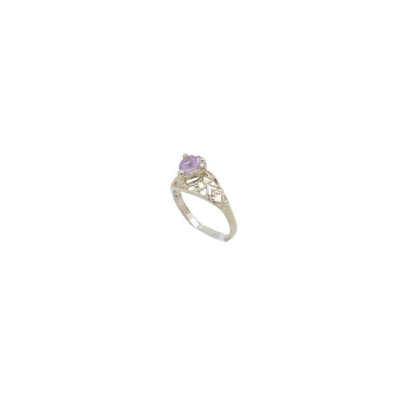 10k Yellow Gold Syntetic pink gemstone r 62302 1