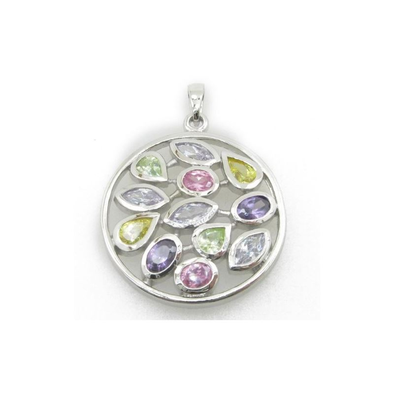 Ladies .925 Italian Sterling Silver roun 74115 1