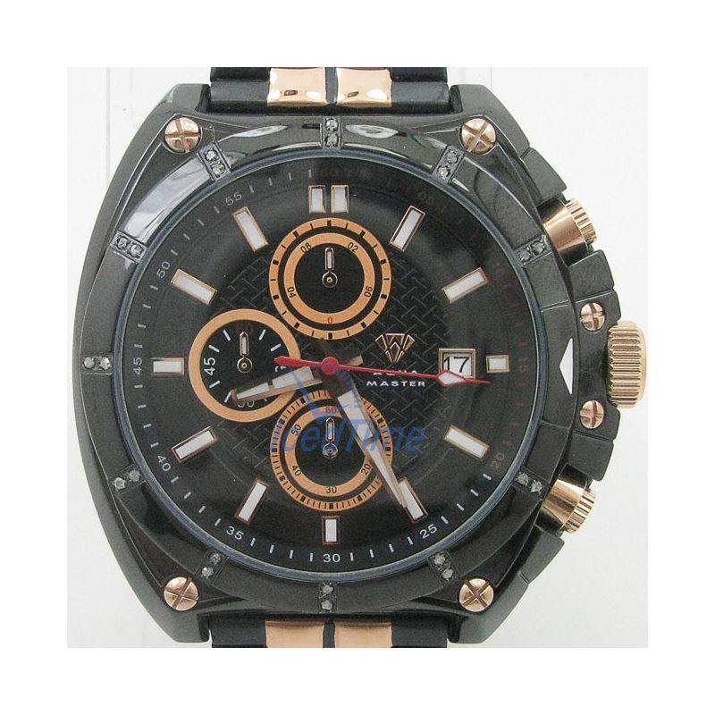 Mens Aqua Master Iced Out Diamond Watch  50713 1
