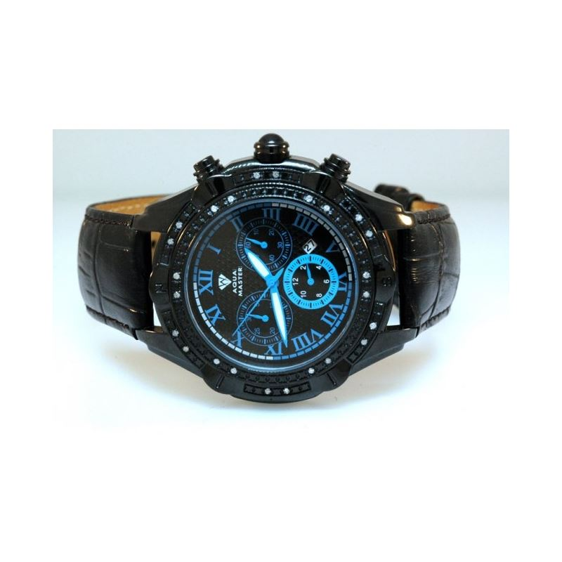 Aqua Master Mens Diamond Black PVD case  54583 1
