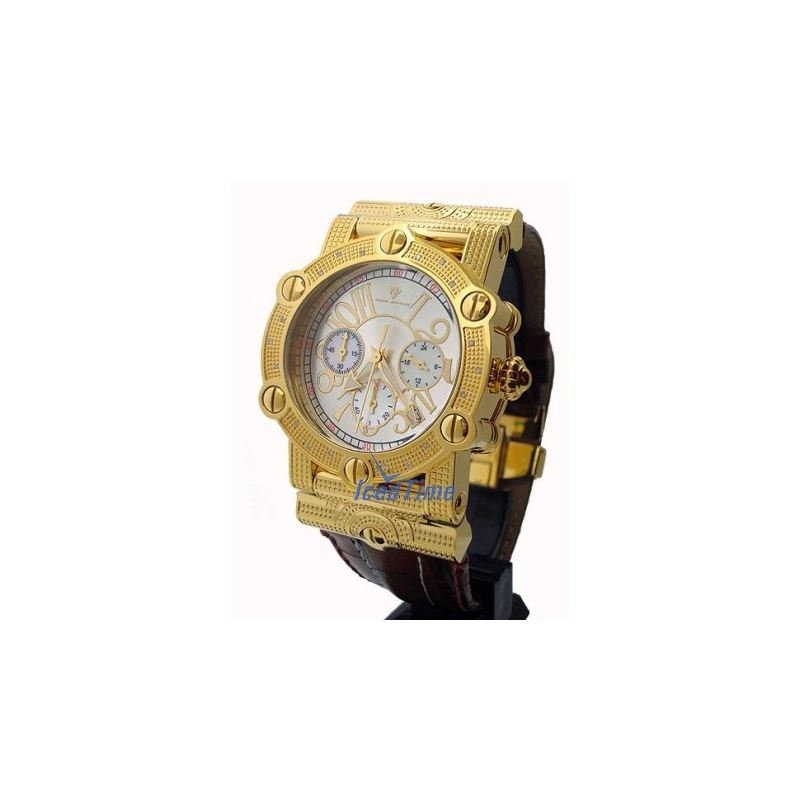 Aqua Master Unisex Diamond Watch 0.18ct  53083 1