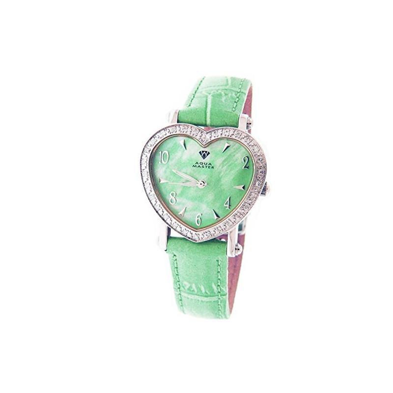 Swiss Lady Style Heart 0.50Ct Diamonds Green Face