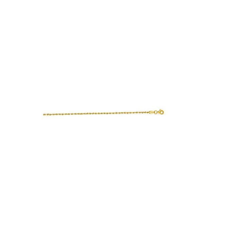 10K Yellow Gold 2.0mm Shiny Solid Diamon 60171 1