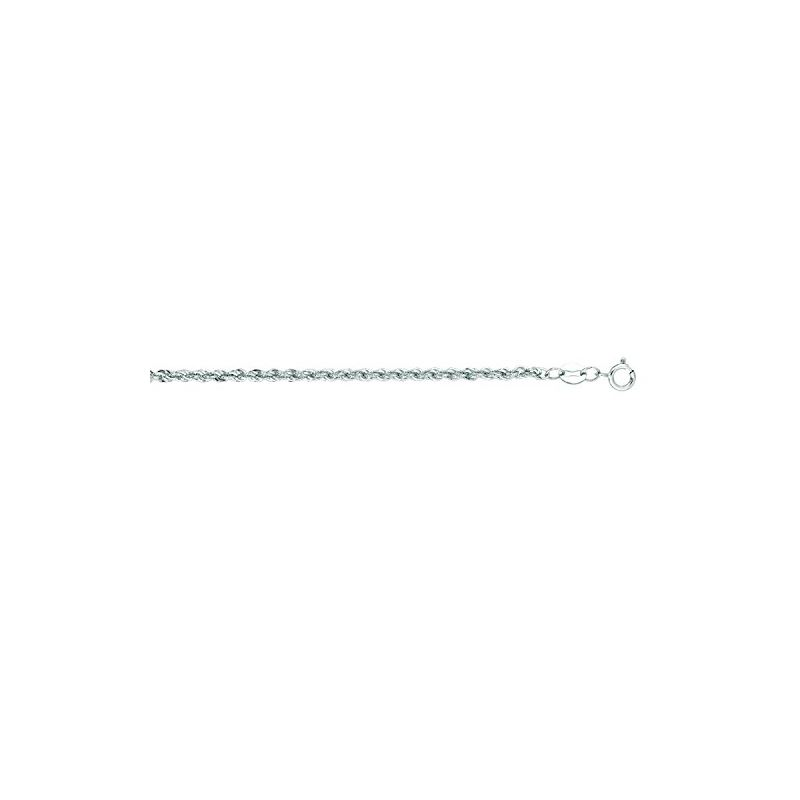 """14K White Gold Light Rope Chain 20"""" inch 65664 1"