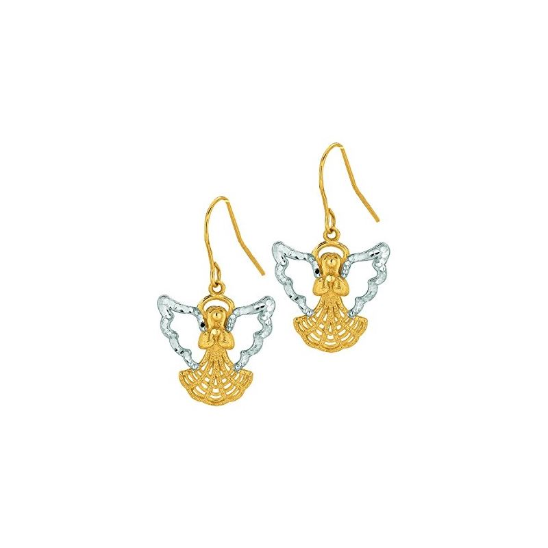 10K Yellow Gold Ladies Drop Earrings 502 61356 1