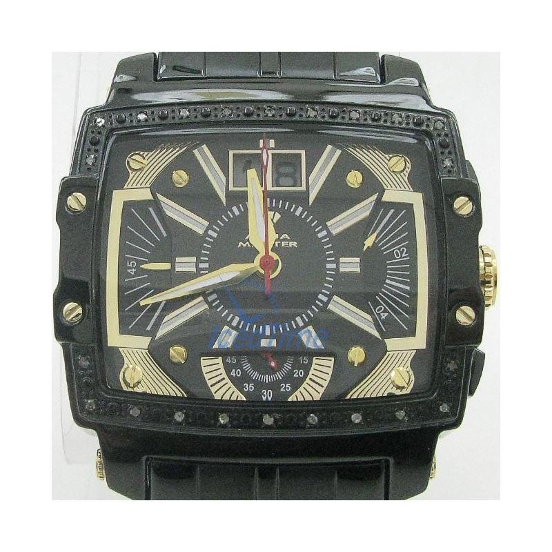 Mens Aqua Master Iced Out Diamond Watch  50664 1