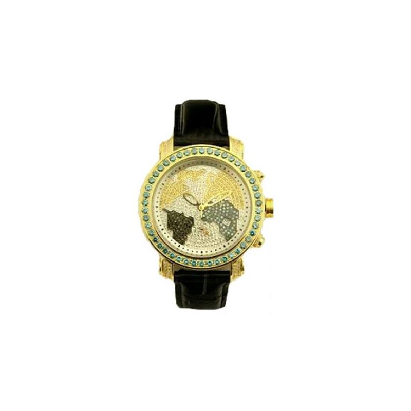 Black Leather Band Gold 53585 1