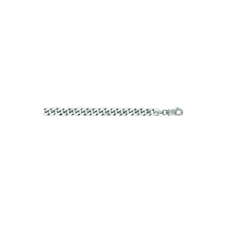 14K White Gold 5.8mm wide Diamond Cut Mi 64928 1