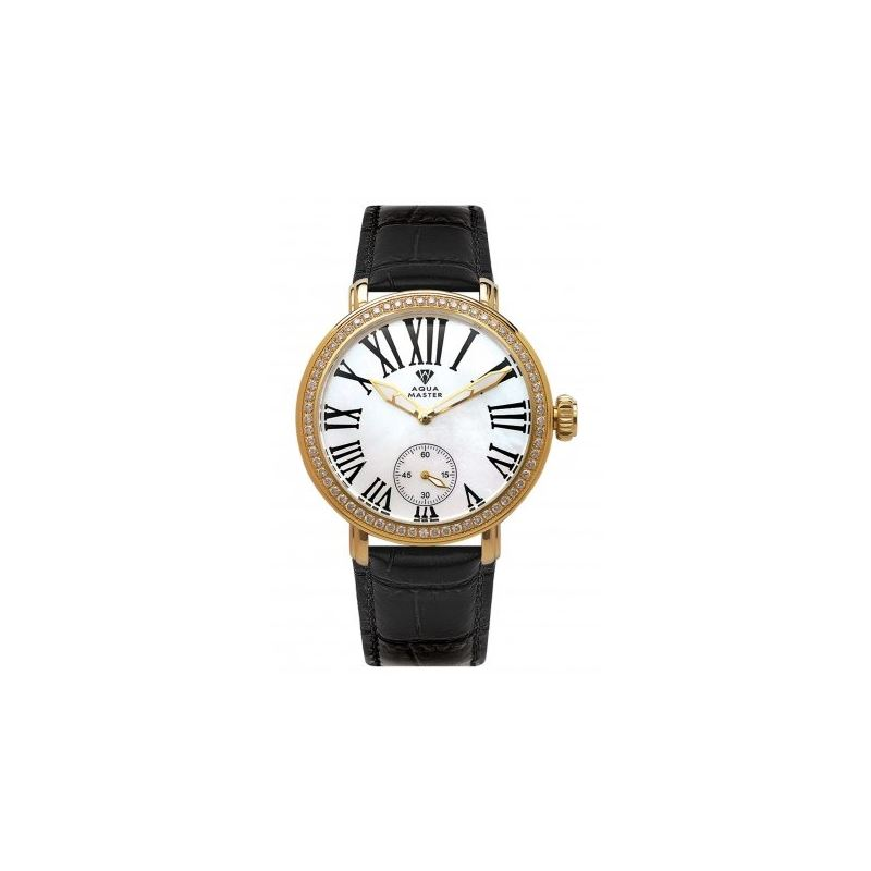 Aqua Master Mechanical Diamond Watch Bla 53093 1
