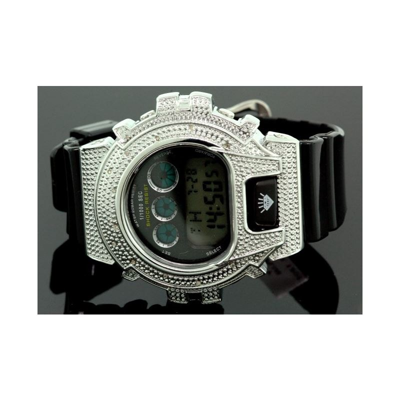 Ice Plus Mens Diamond Shock Style Watch  27748 1