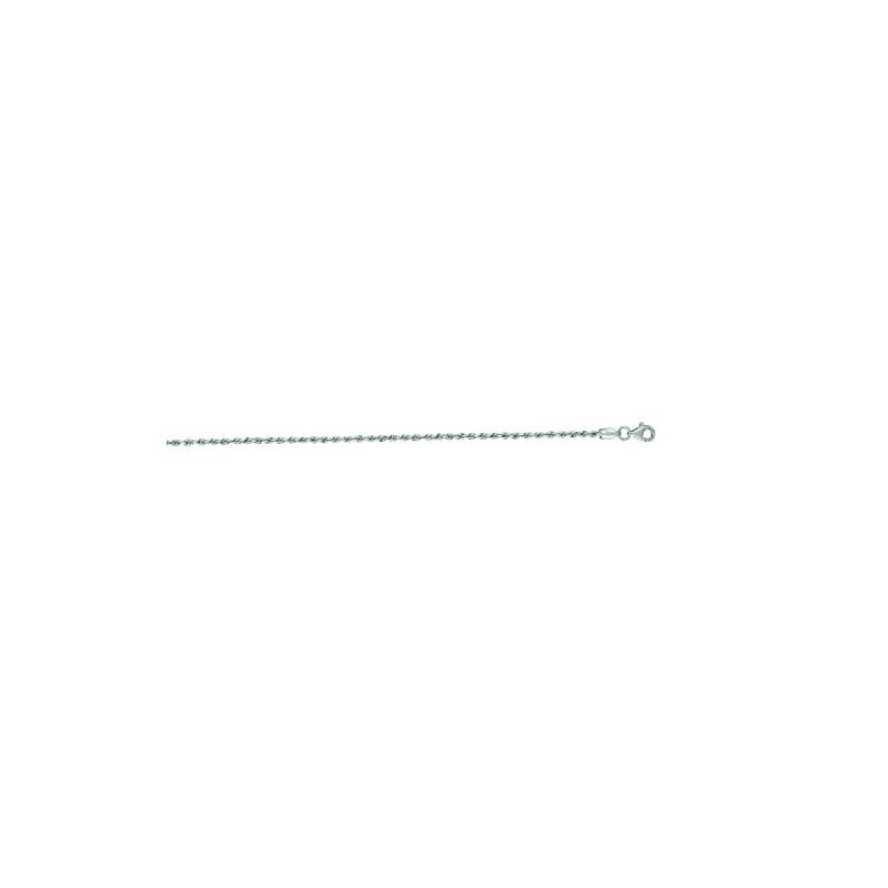 14K White Gold Solid Diamond Cut Rope Ch 65903 1