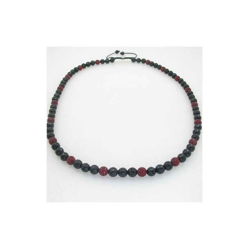 Mens beaded rosary chain crystal gemston 78664 1
