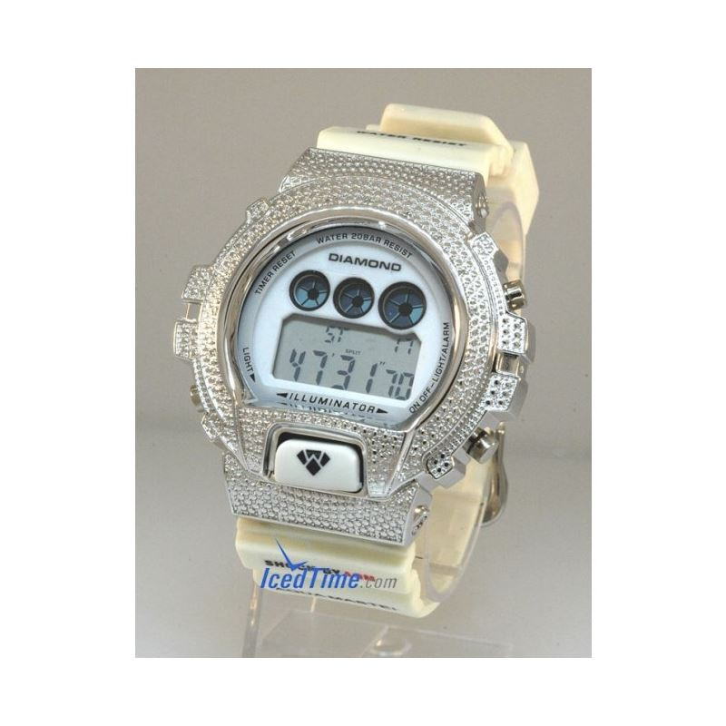 Aqua Master Shock Diamond Mens White Wat 55502 1