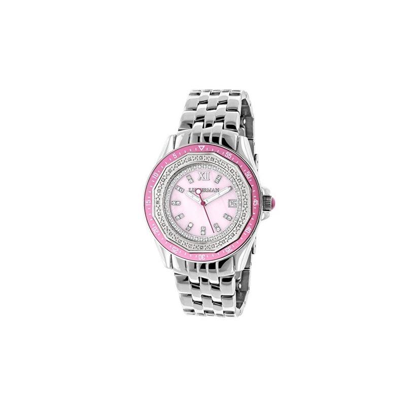 Ladies Real Diamond Watch 0.25ct Pink MO 89959 1