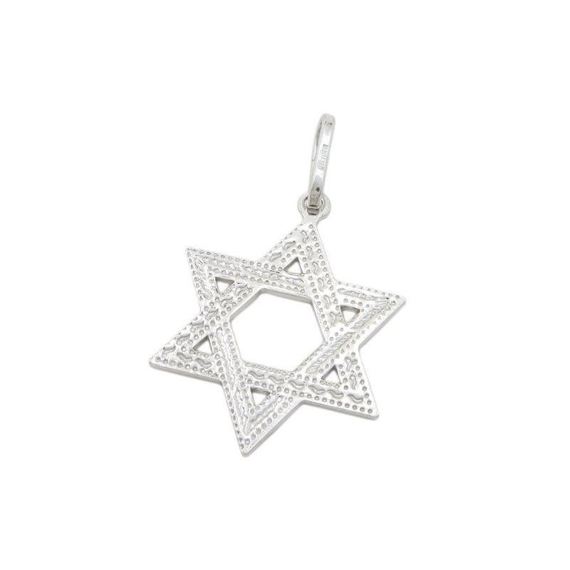 Star of david silver pendant SB57 44mm t 80223 1