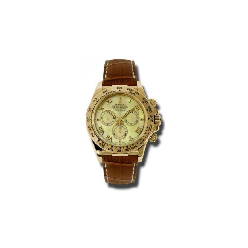 Rolex Watches  Daytona Yellow Gold  Leat 54188 1