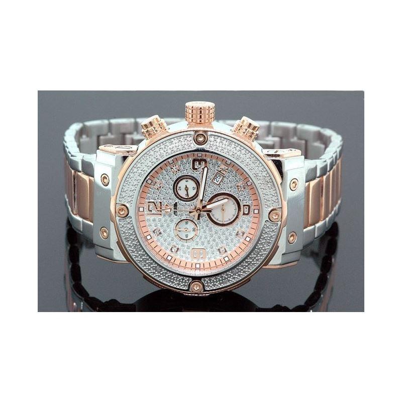 Aqua Master Mens Diamond Two Tone Watch  28051 1