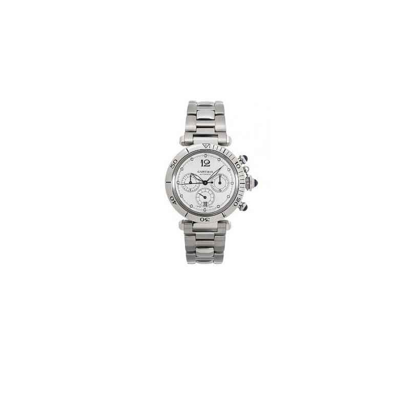 Cartier Pasha Chronograph Automatic Mens 55232 1