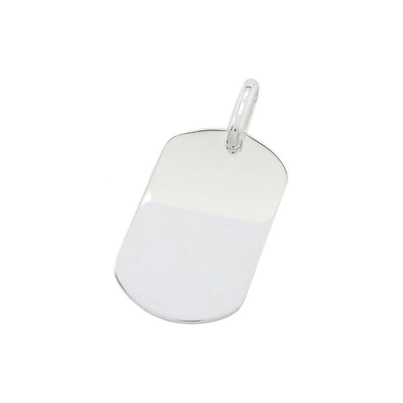 Plain dog tag pendant SB18 38mm tall and 79276 1