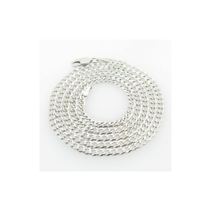 Mens White-Gold Cuban Link Chain Length  79014 1