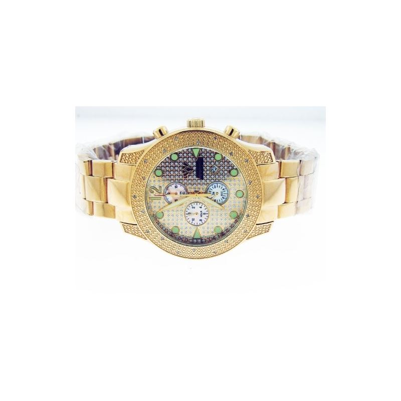 Men's 20 Diamond Watch Yellow Gold