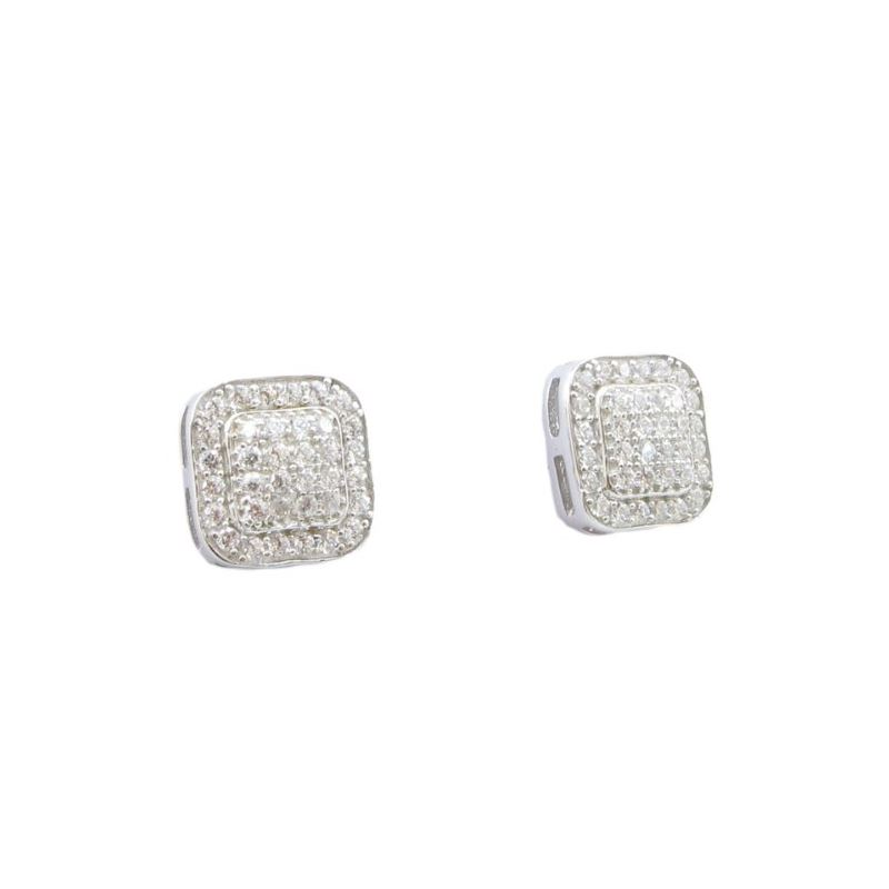 Mens .925 sterling silver White 6 row ro 76326 1