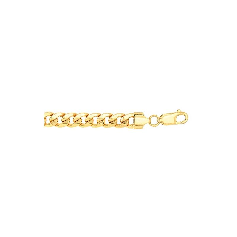 Real 10K Yellow Gold 6.5 mm Wide Hollow  61232 1