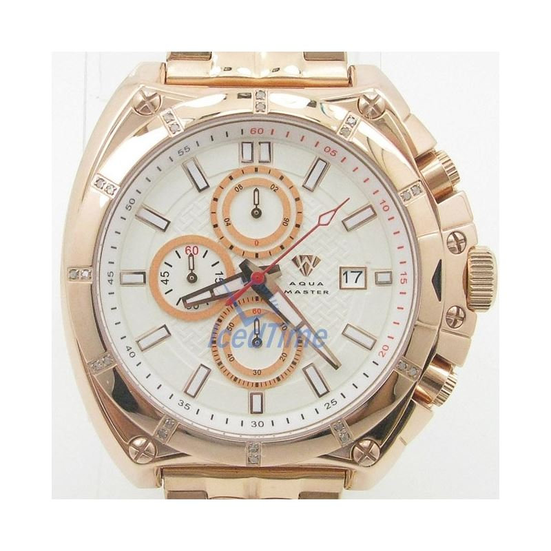 Mens Aqua Master Iced Out Diamond Watch  50741 1