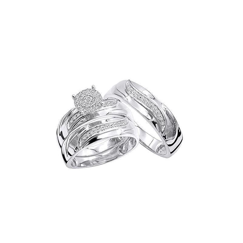 10K Gold Affordable Diamond Engagement Ring Weddin