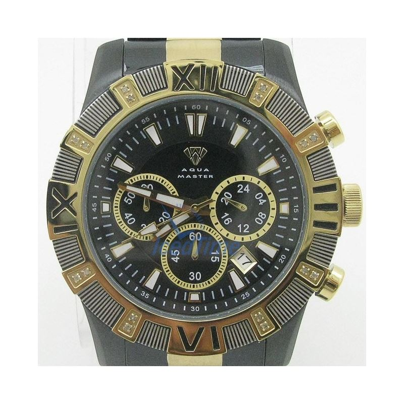 Mens Aqua Master Iced Out Diamond Watch  50608 1