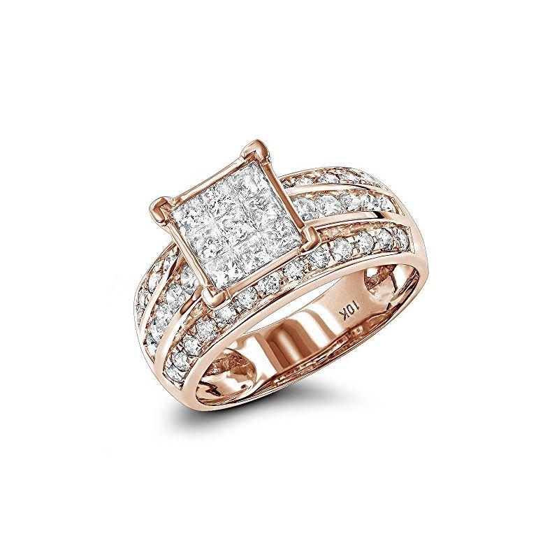 10K Affordable Round Princess Cut 1.5 Ctw Diamond