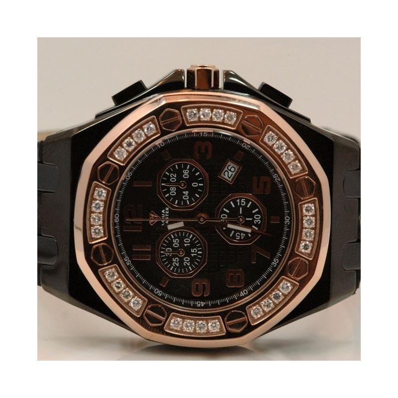 Aqua Master Royal Oak Mens Diamond Watch 49189 1