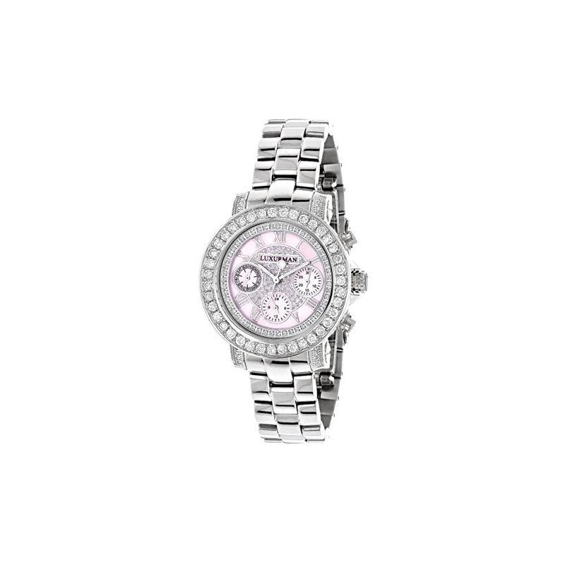 Luxurman Watches Ladies Diamond Watch 3c 90640 1