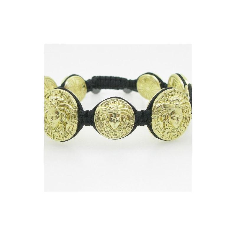 Yellow Greek style medusa string bracele 84768 1