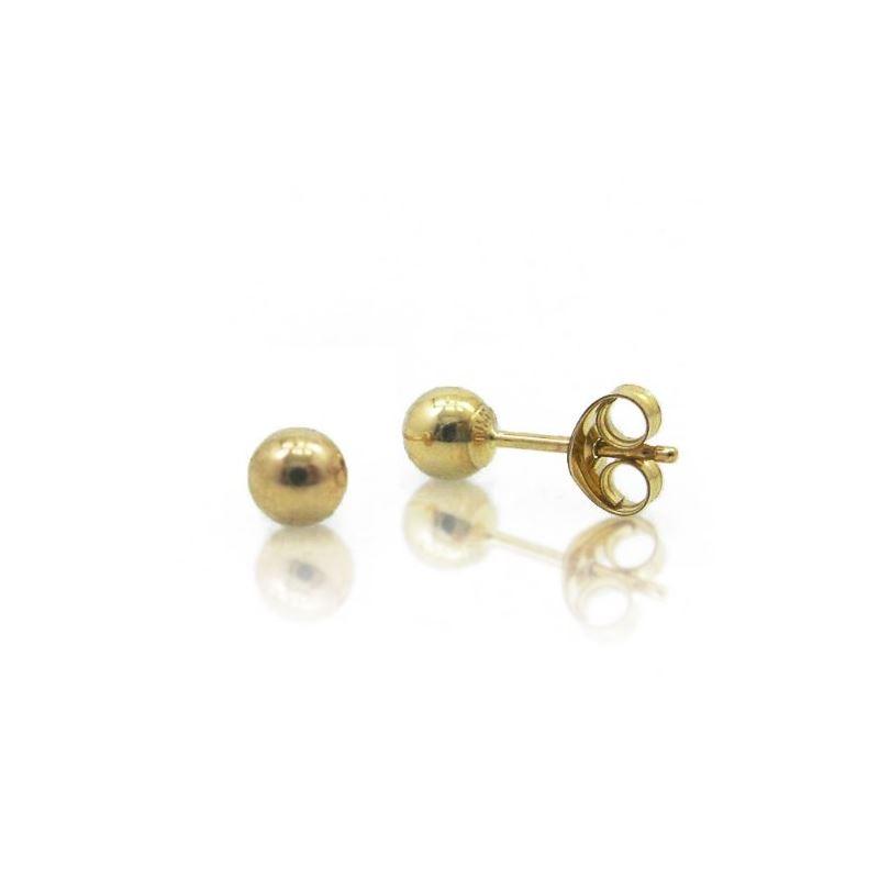 14k Yellow Gold 6mm Ball Stud Earrings 67021 1
