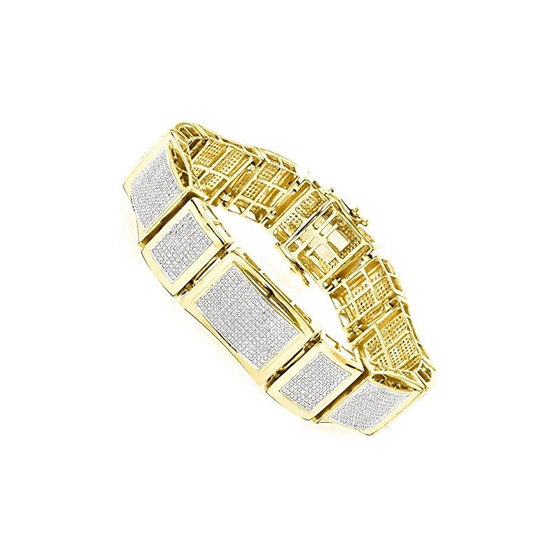 14K Unique Design Mens Natural 6 Ctw Pave Set Diam
