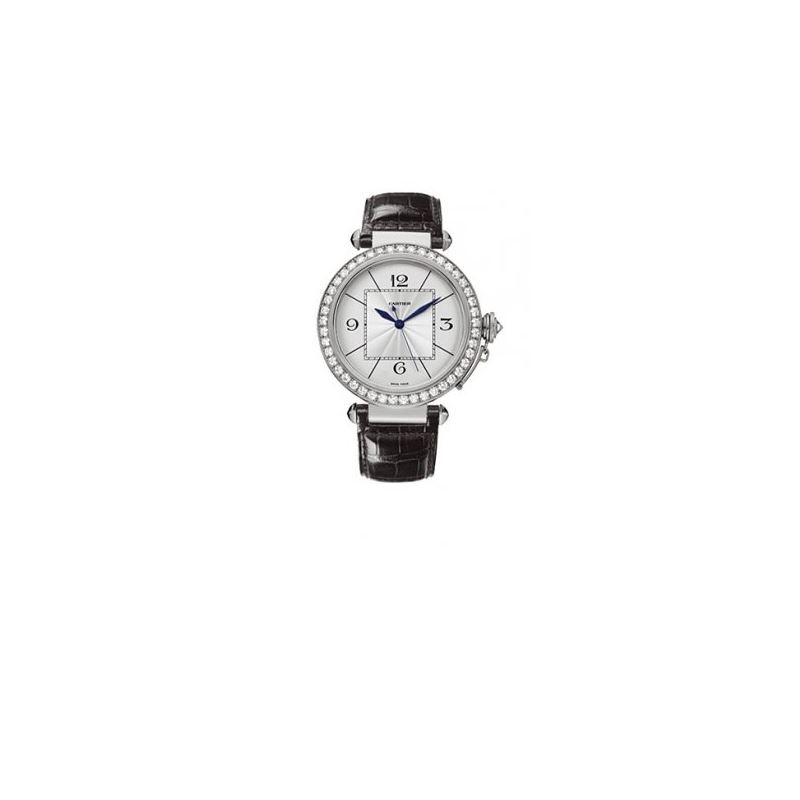 Cartier Pasha Diamond 18kt White Gold Me 55271 1