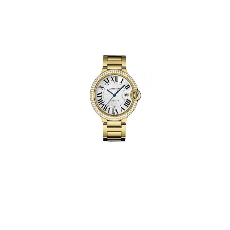 Cartier Ballon Bleu Mens Gold Watch WE90 55141 1