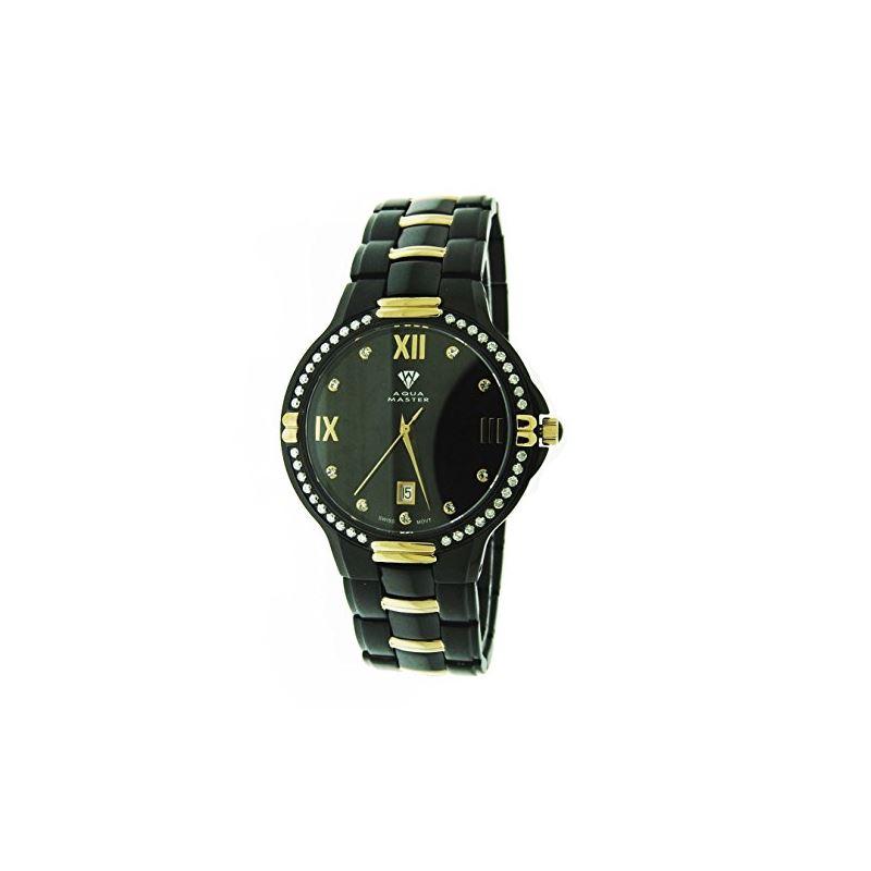 Mens Swiss 40Mm 1.00Ct 40 PCS Diamonds Watch Bl;Ac